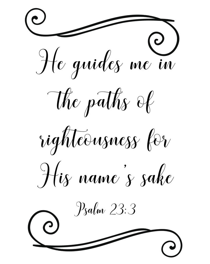 graphic relating to Printable 23rd Psalm identified as Bible verse wall artwork, Psalm 23 printable 8 x 10 PDF